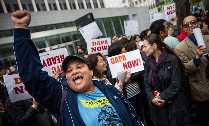 The president's executive action on immigration is stuck in the courts.