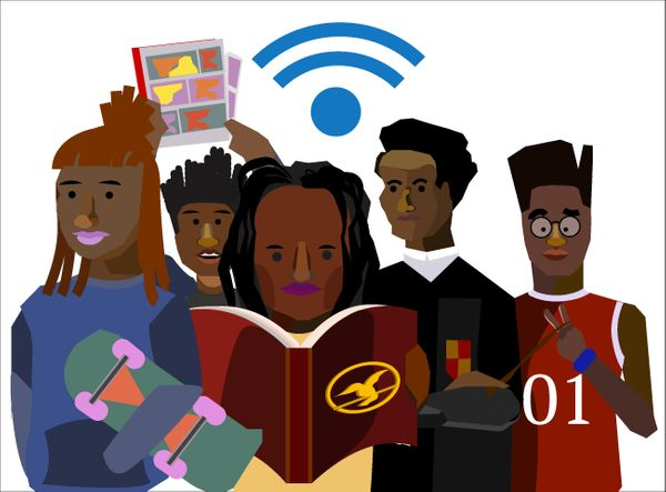 While you maybe one of the few black and nerdy kids in your community, there's a virtual home for alternative black kids onli