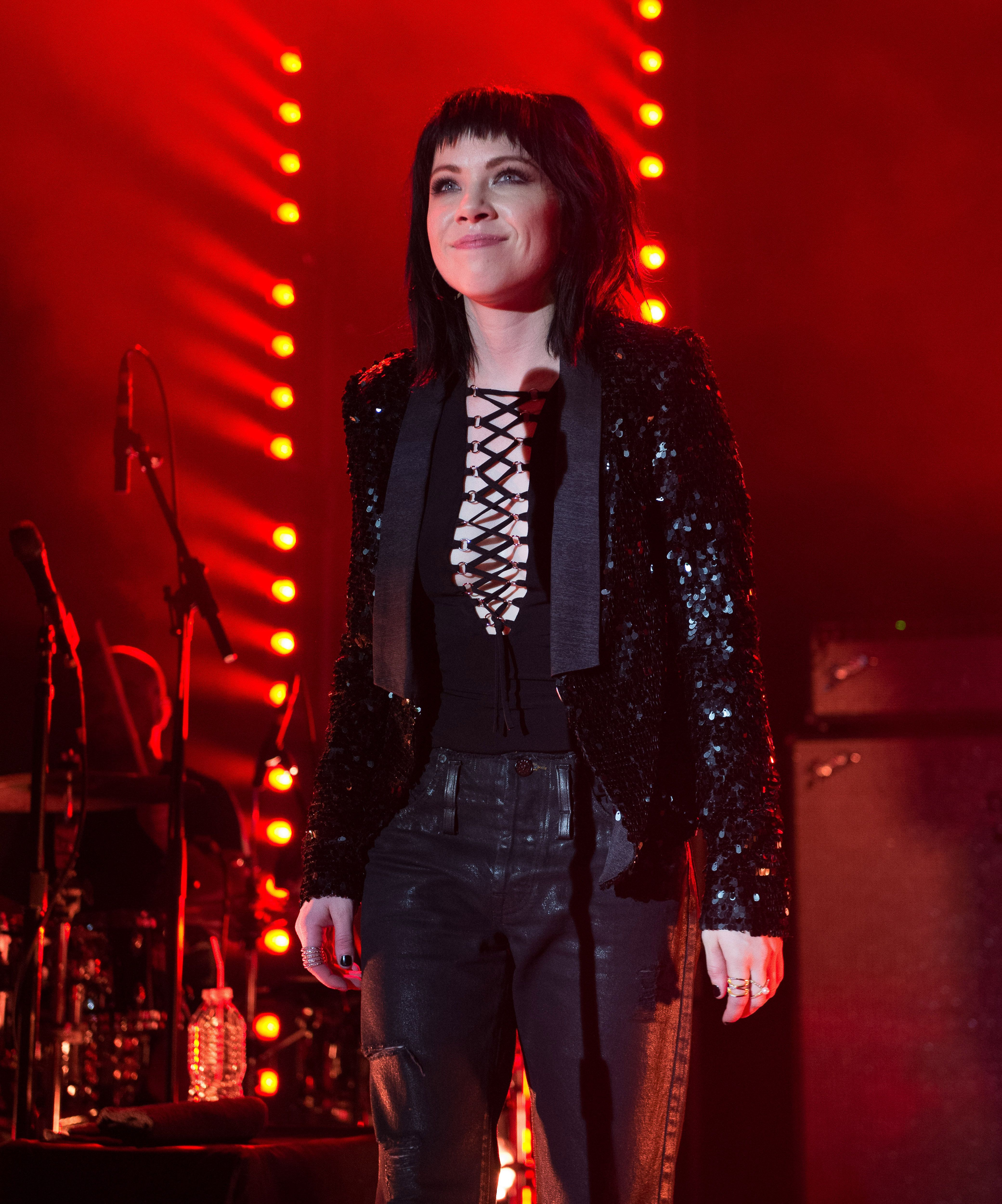 NEW YORK, NY - NOVEMBER 11:  Carly Rae Jepsen performs during her 'Gimmie Love' tour at Irving Plaza on November 11, 2015 in New York City.  (Photo by Mark Brown/Getty Images)