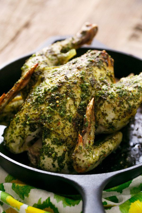 "<strong>Get the <a href=""http://www.loveandoliveoil.com/2015/11/chimichurri-roasted-chicken.html"">Chimichurri Roasted Chicken"