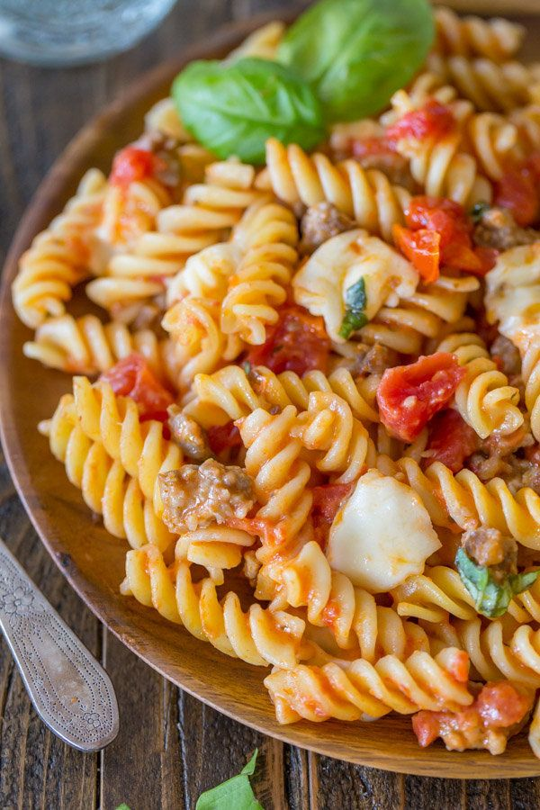 """<strong>Get the <a href=""""http://lovelylittlekitchen.com/one-pot-pasta-with-tomato-basil-and-mozzarella/"""">One Pot Pasta With T"""