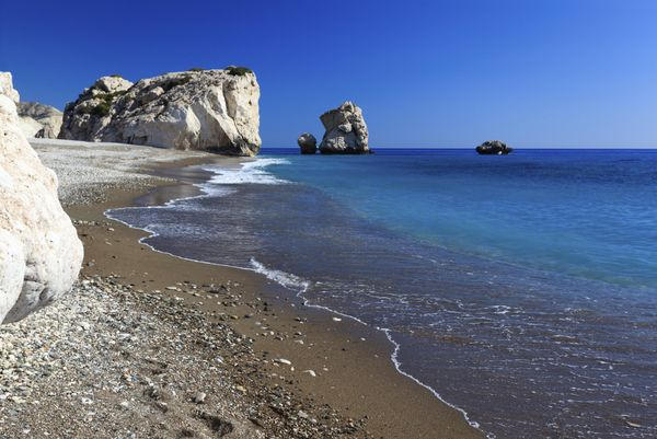 "This striking rock formation off the southwest coast of Cyprus is said to be the <a href=""http://www.visitcyprus.com/wps"