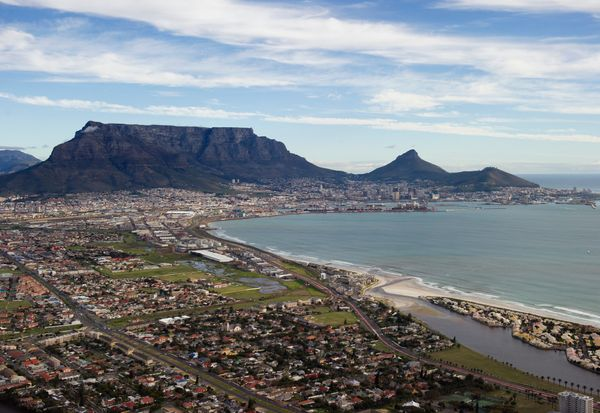 "Table Mountain overlooks Cape Town and is a popular tourist destination. It was the result of <a href=""http://www.britannica."