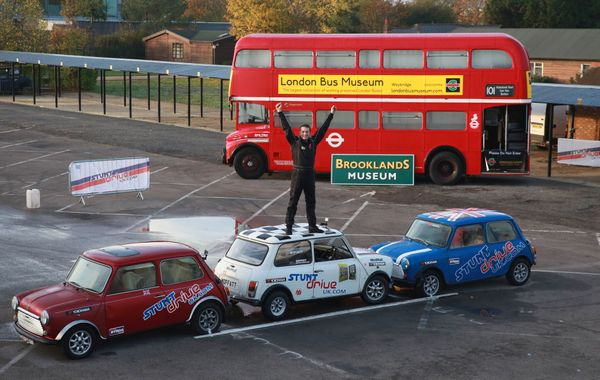Alastair Moffat of Gloucester, UK, achieved the world's tightest parallel park in reverse. He left a gap of only 13.38 inches