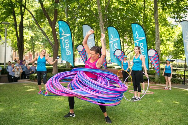 Bree Kirk-Burnnand of Sydney, Australia, holds the record of most hula hoops spun simultaneously: 181.