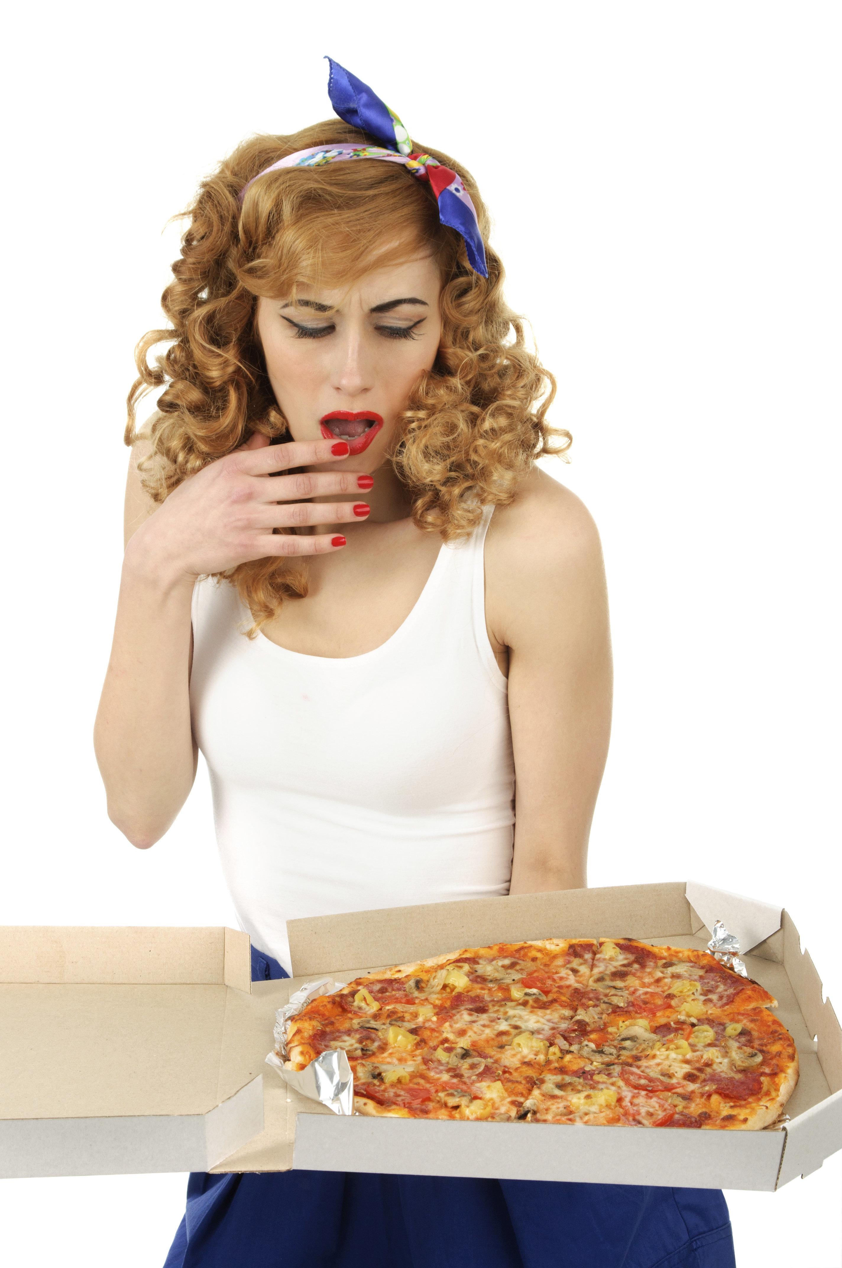 Large Pepperoni Pizza Porn