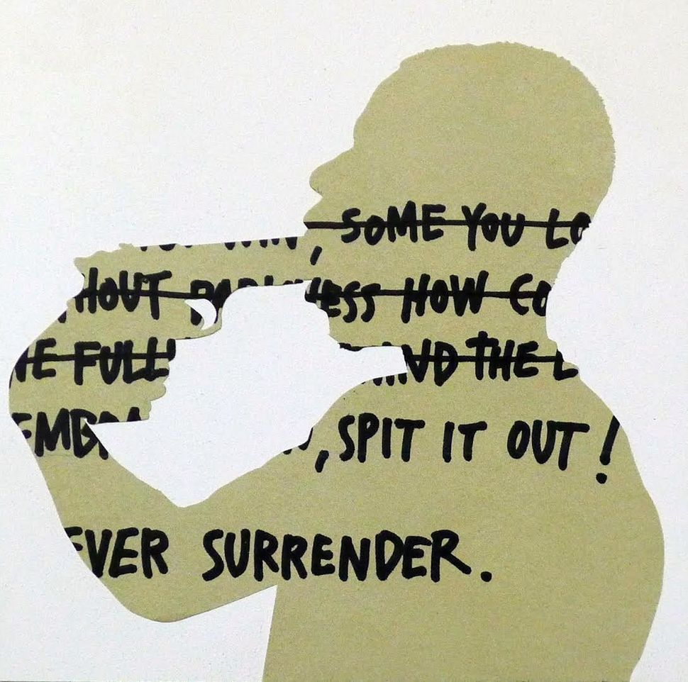 Surrender #2, Medium: Gesso Board, Cut Magazine Paper