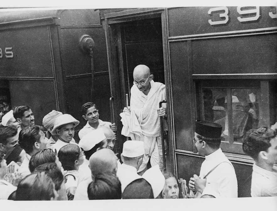Though Mahatma Gandhi's always traveled in the third class, his arrival at any station was a source of rejoicing and huge cro
