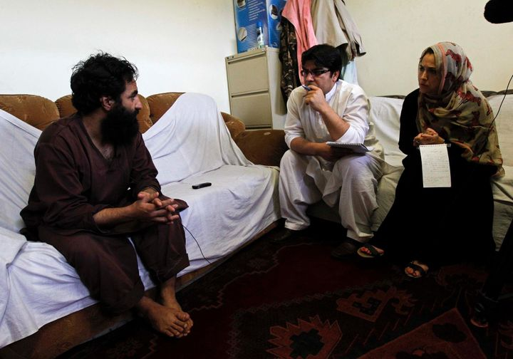 Amie Ferris-Rotman and Reuters correspondent Hamid Shalizi interviewed a Taliban member inside a Kabul prison in 2012.