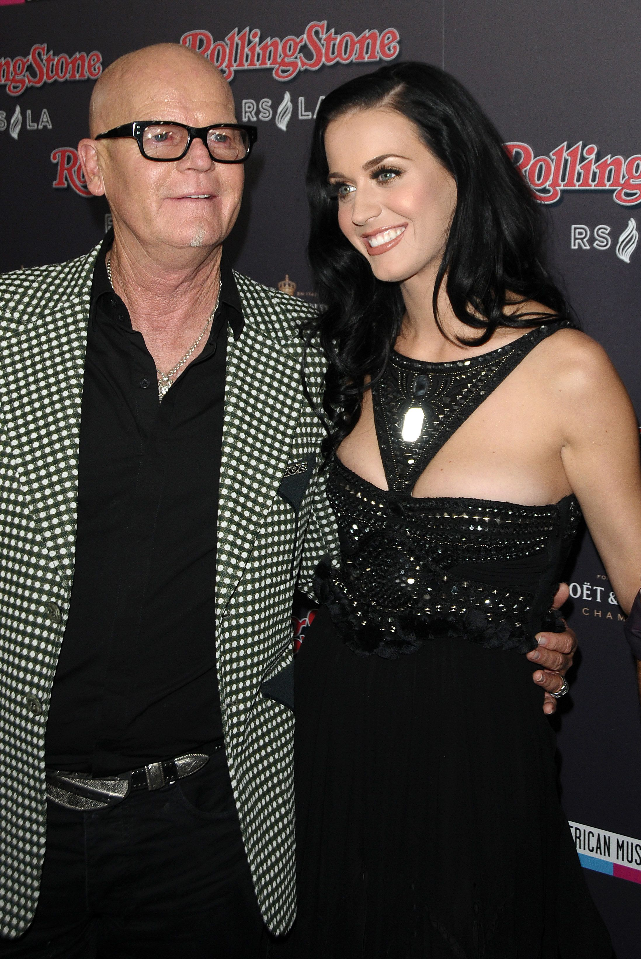 Katy Perry and her father pastor Keith Hudson attend the Rolling Stone after party for the 2010 American Music Awards at Rolling Stone Restaurant & Lounge on November 21, 2010 in Los Angeles, California.