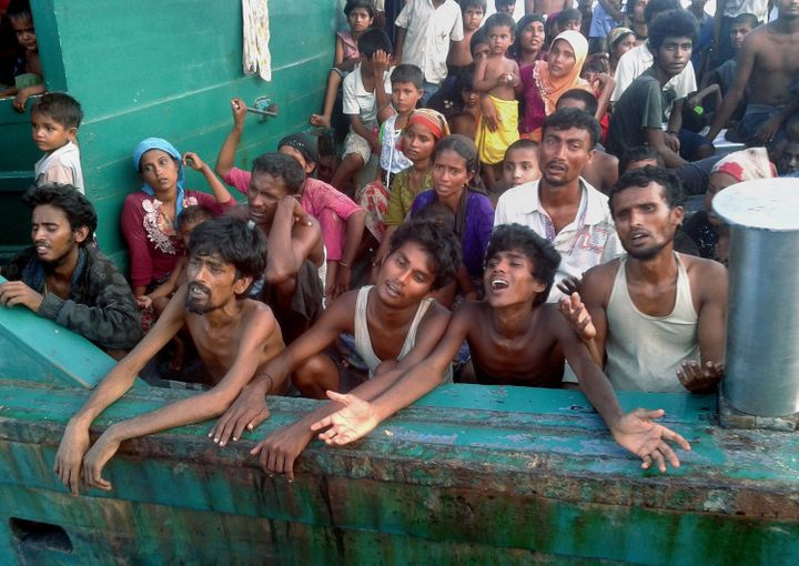 Thousands of Rohingya were stranded at sea in May when they were abandoned by traffickers and denied entry to Thail