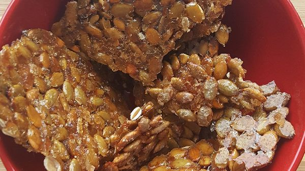 """Instead of putting out bowls of spiced nuts, try this take on brittle from Peter Bonizio of <a href=""""http://thomaspreti.com/"""""""