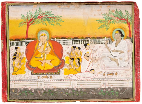 """""""Although made much later, miniature images of Vitthalnathji and Vallabhacharya are often based on portraits painted du"""