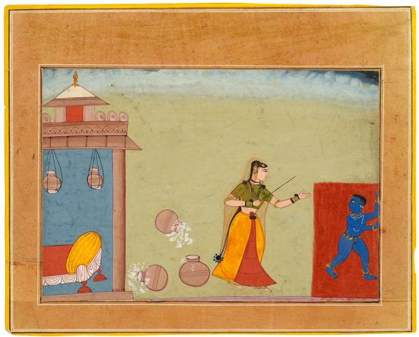 """""""This miniature comes from an early <i>Bhagavatapurana</i>, one of the most important religious texts from India, which could"""