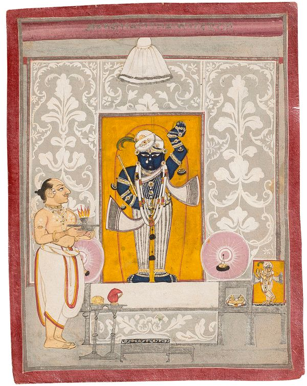 """""""Vitthalnathji, who succeeded his father as the leader of the Pushtimarg sect, developed contacts with the Mughal court"""
