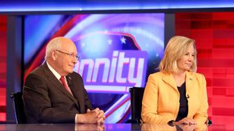 NEW YORK, NY - AUGUST 31:  Former Vice President Dick Cheney (L) and his daughter Liz Cheney (R) visit FOX News Channel's 'Hannity' regarding their new book at FOX Studios on August 31, 2015 in New York City.  (Photo by Paul Zimmerman/Getty Images)