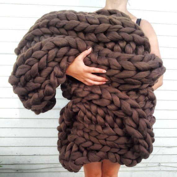 """To buy: <a href=""""https://www.etsy.com/listing/204322051/super-chunky-knit-blanket-42-x-60-deep?ref=shop_home_active_3"""">Lily A"""
