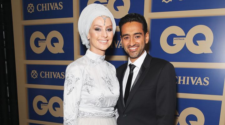 Susan Carland and her husband, Waleed Aly. Carland has been in the news this week for vowing to donate $1 to charity for