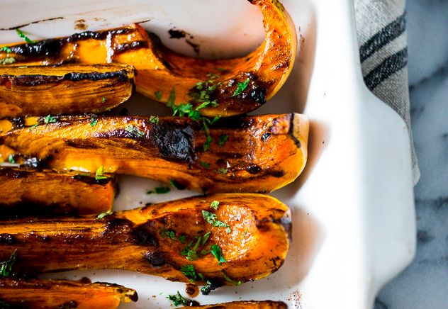 "<strong>Get the <a href=""http://www.feastingathome.com/2014/10/roasted-butternut-with-black-garlic-and.html"" target=""_blank"" rel=""noopener noreferrer"">Roasted Butternut With Black Garlic and Miso recipe</a> from Feasting From Home.</strong>"