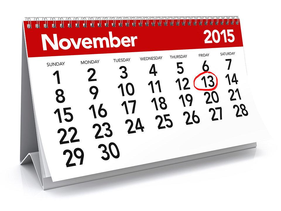 Nov. 13, 2015 is Odd Day.