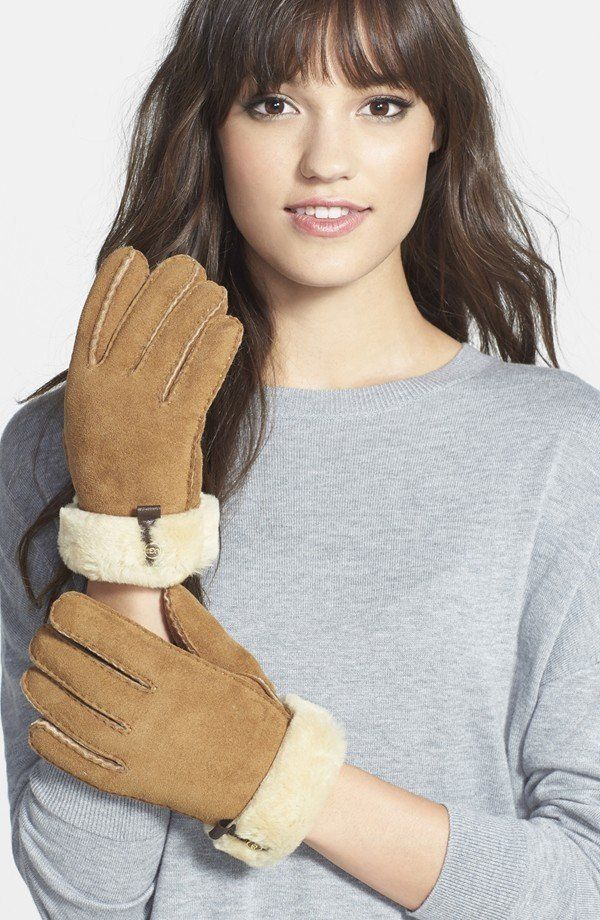 "<a href=""http://shop.nordstrom.com/s/ugg-australia-tenney-genuine-shearling-gloves/3797601"">Ugg Australia 'Tenney' Genuine Sh"