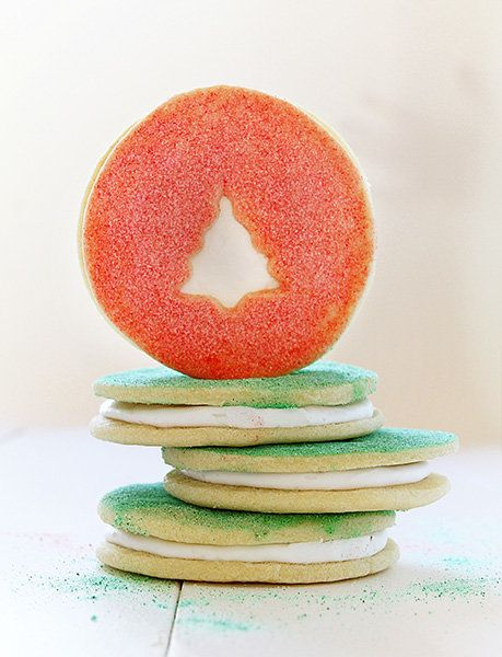 "<strong>Get the <a href=""http://iambaker.net/christmas-cookie-sandwiches/"" target=""_blank"">Sandwich Sugar Cookies recipe</a>"