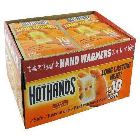 """<a href=""""http://www.target.com/p/hothands-hand-warmers-40-pairs/-/A-11088367"""">HotHands Hand Warmers, 40 Pairs, $28.50</a>"""