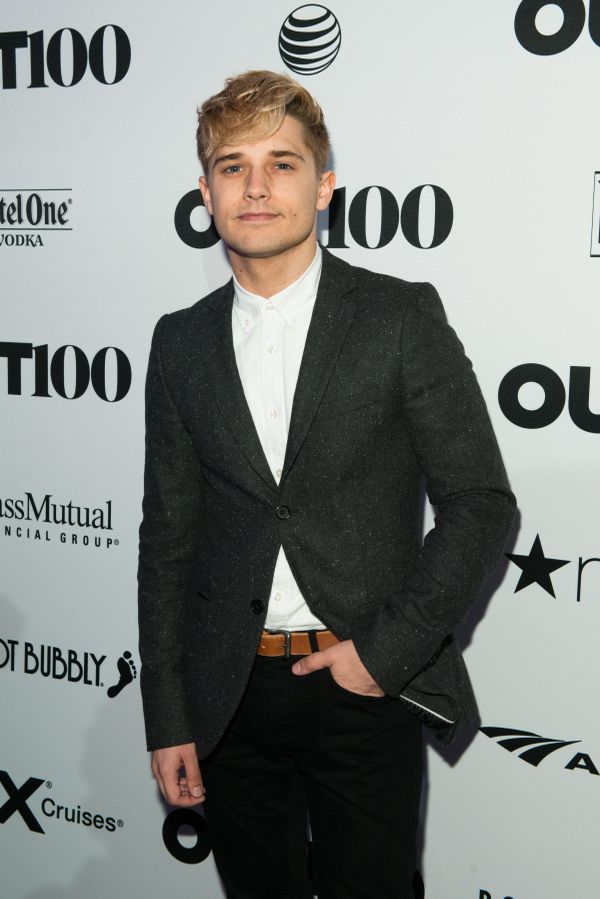 Actor, Andy Mientus walks the red carpet at the OUT100 Gala, presented by Lexus at Guastavino's on Wednesday evening in New Y