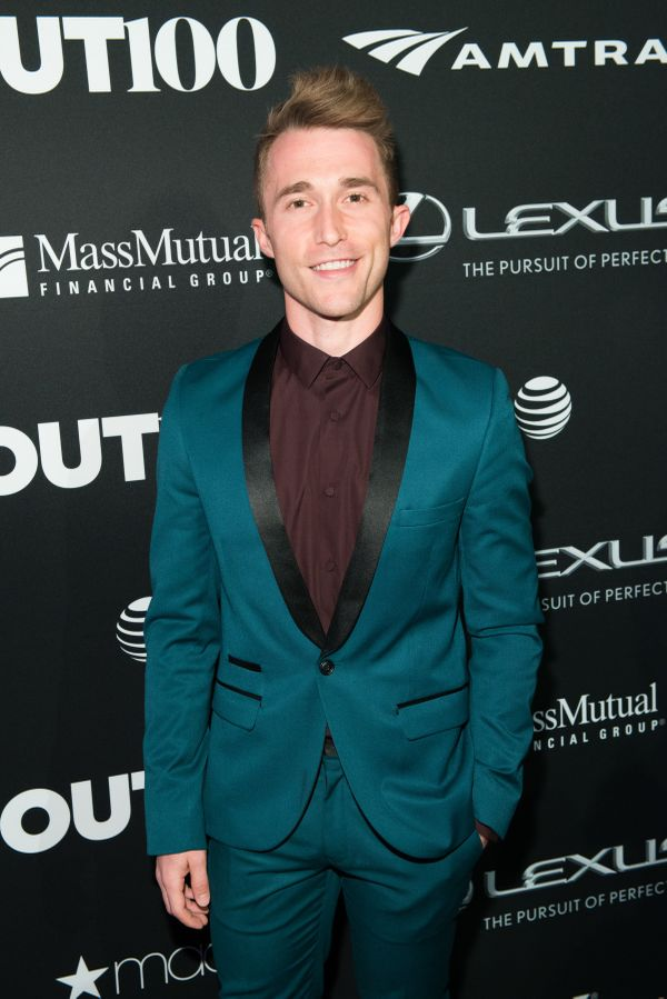 Actor, Ben Baur walks the red carpet at the OUT100 Gala, presented by Lexus at Guastavino's on Wednesday evening in New York