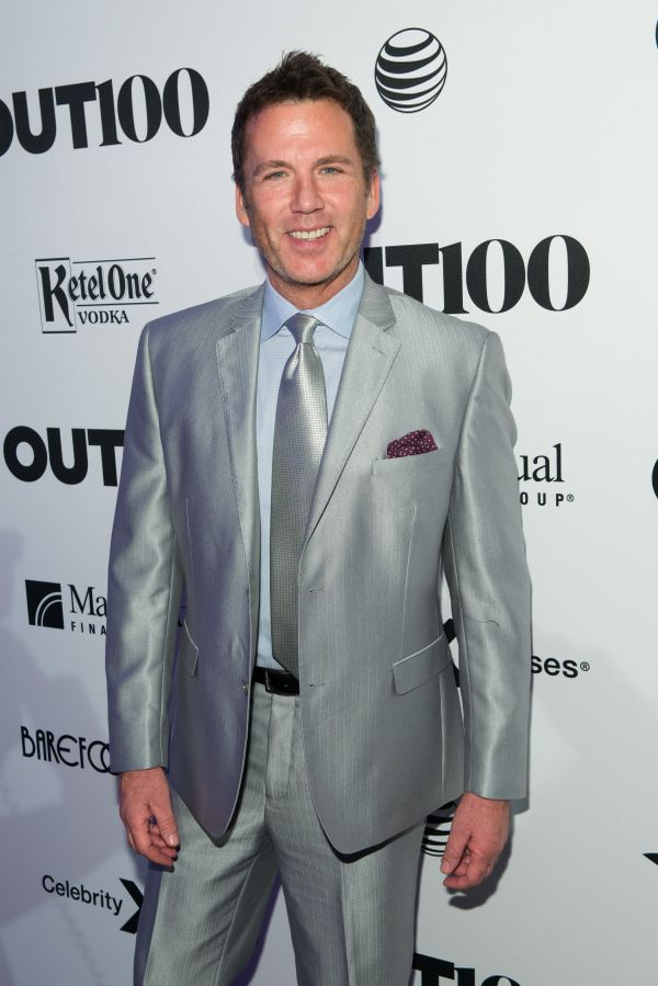 Actor and producer, David Millbern walks the red carpet at the OUT100 Gala, presented by Lexus at Guastavino's on Wednesday e