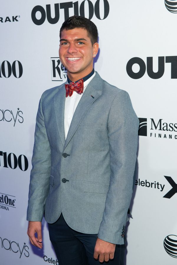 College basketball player, Dalton Maldonado walks the red carpet at the OUT100 Gala, presented by Lexus at Guastavino's on We