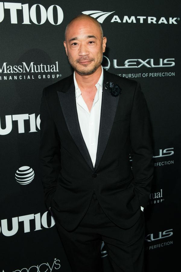 Interior designer, Cliff Fong walks the red carpet at the OUT100 Gala, presented by Lexus at Guastavino's on Wednesday evenin