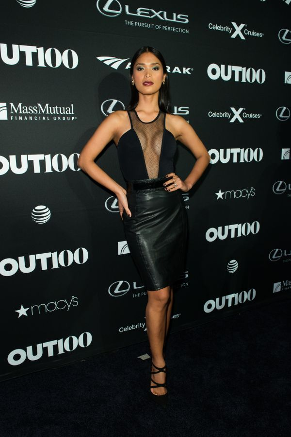 Model and activist, Geena Rocero walks the red carpet at the OUT100 Gala, presented by Lexus at Guastavino's on Wednesday eve