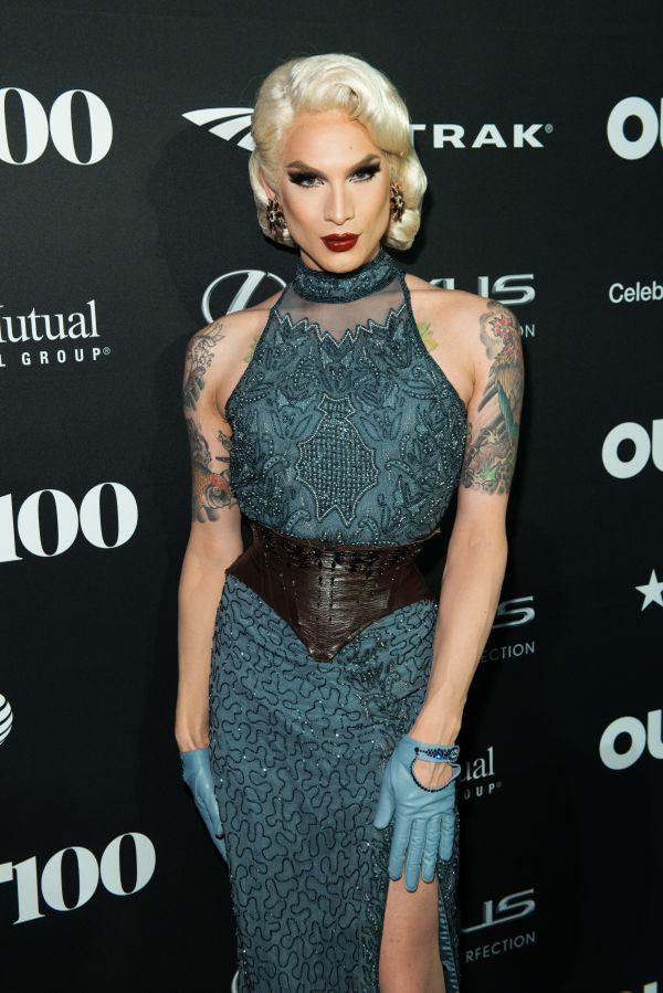 RuPaul's Drag Race Contestant, Miss Fame walks the red carpet at the OUT100 Gala, presented by Lexus at Guastavino's on Wedne