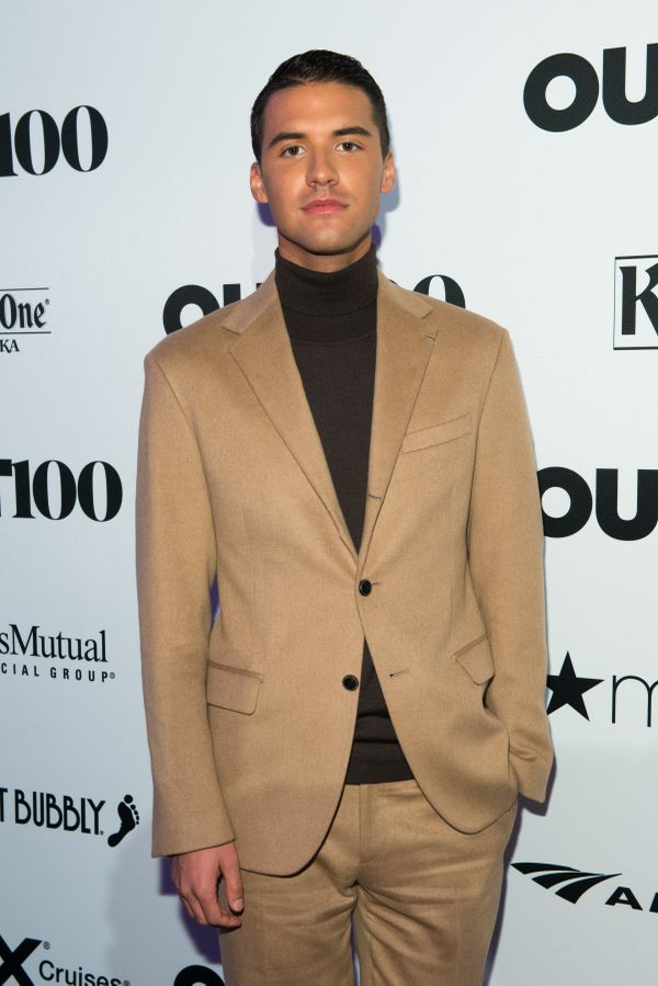 YouTube Creator, Raymond Braun walks the red carpet at the OUT100 Gala, presented by Lexus at Guastavino's on Wednesday eveni