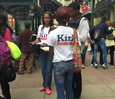 These were the women collecting signatures for Kirk, while claiming their petitions were for a wage campaign.