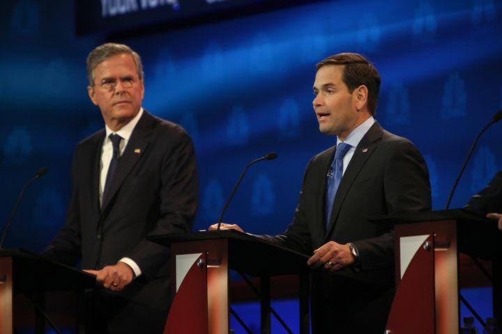 Former Florida Gov. Jeb Bush and Sen. Marco Rubio (R-Fla.) have useddifferent tactics to get around theban on coo