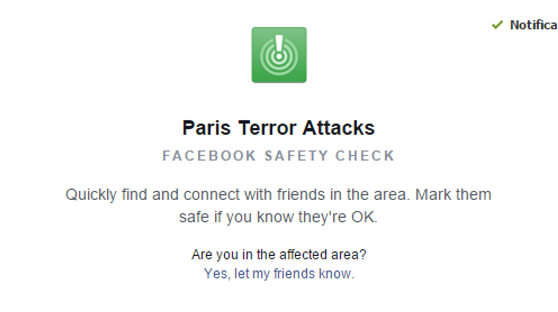 Use Facebook To Say You're 'Safe' During Events Like Paris