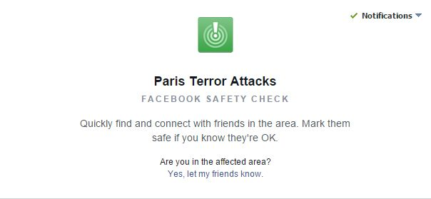 Use Facebook To Say You're 'Safe' During Events Like Paris Attacks
