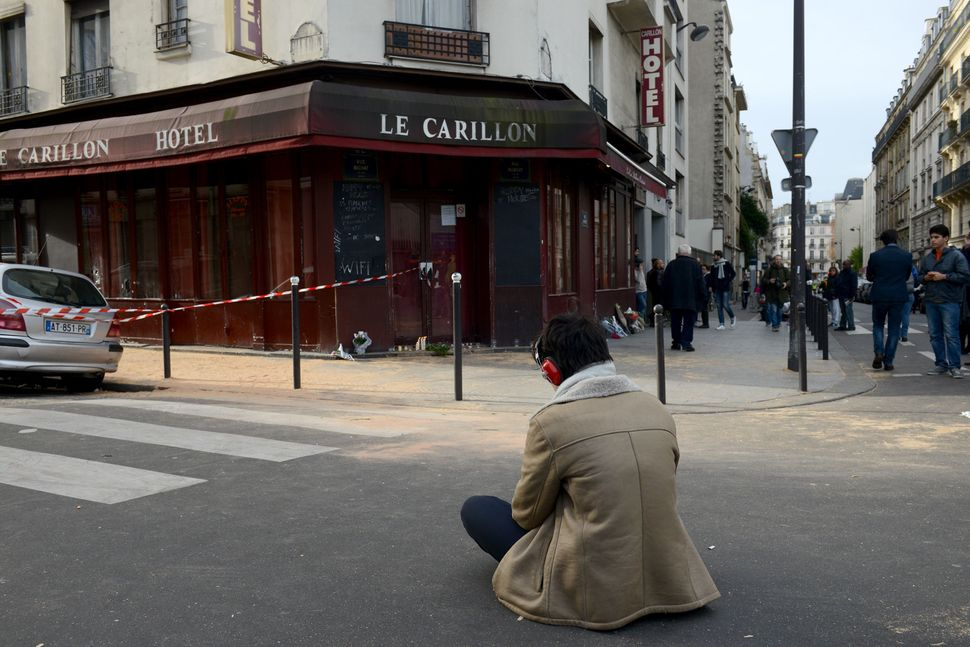 Le Carillon bar is seen the day after a deadly attack on Nov. 14, 2015 in Paris, France.