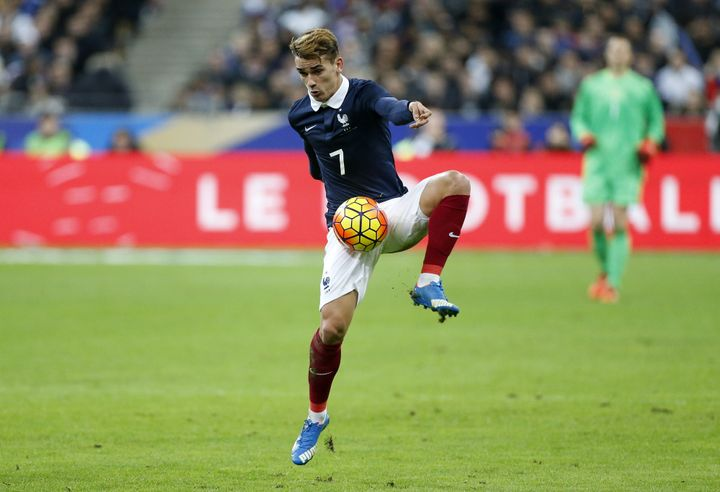 The sister of French striker Antoine Griezmann --seen in action during the match between France and Germany Friday, Nov