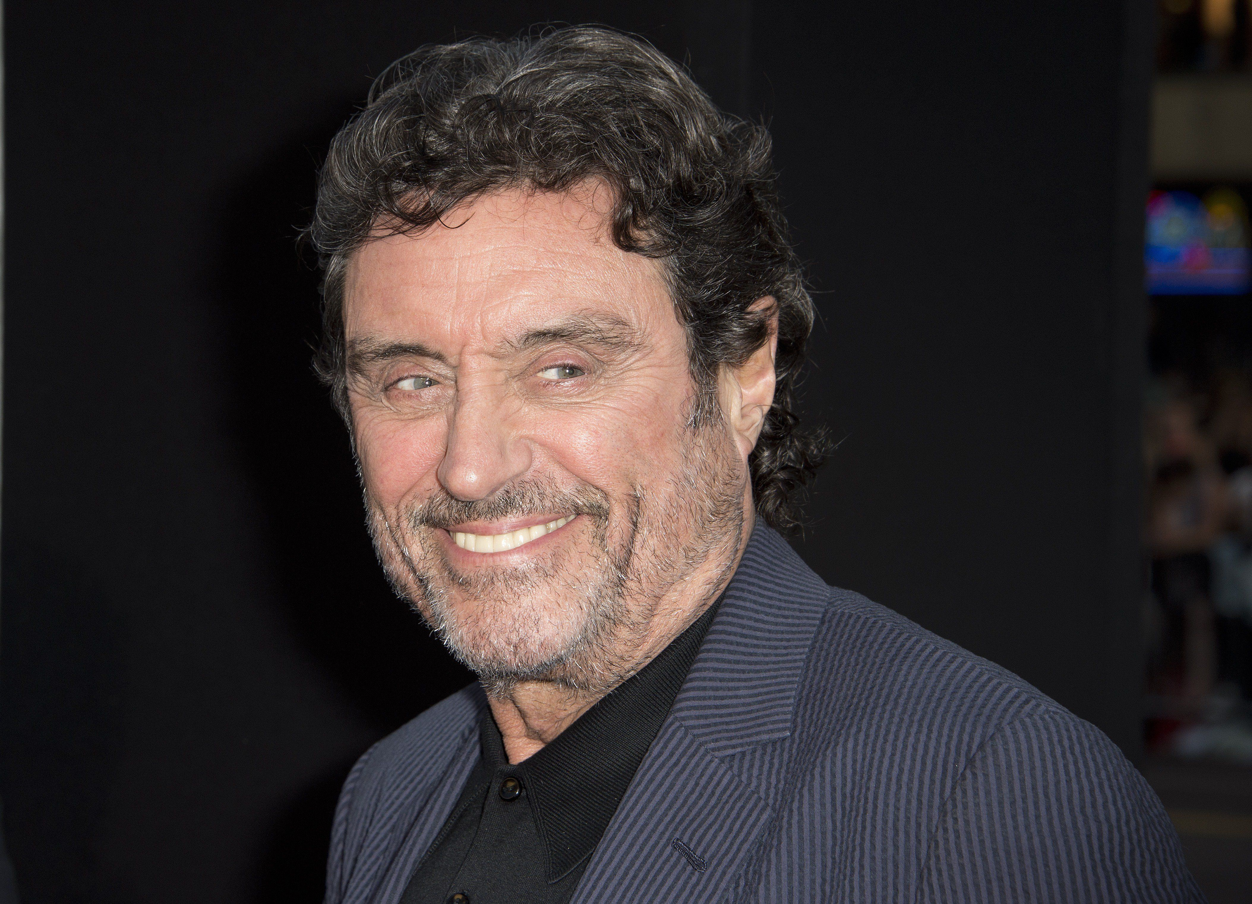 Actor Ian McShane attends the premiere of 'Hercules,' July 23, 2014 at TCL Chinese Theatre in Hollywood, California.  AFP PHOTO / Robyn Beck        (Photo credit should read ROBYN BECK/AFP/Getty Images)