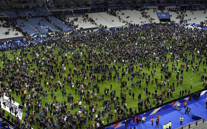 The chaos on Friday began when two explosions rang out during a friendly soccer match between France and Germany at the Stade