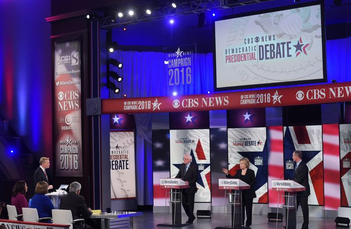 Saturday night's Democratic debate failed to draw a large crowd.