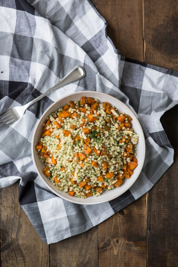 "<strong>Get the <a href=""http://naturallyella.com/roasted-carrots-and-couscous-with-gremolata/"" target=""_blank"">Roasted Carro"