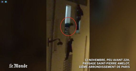 Pregnant Woman Dangling From A Paris Window During Attacks Is