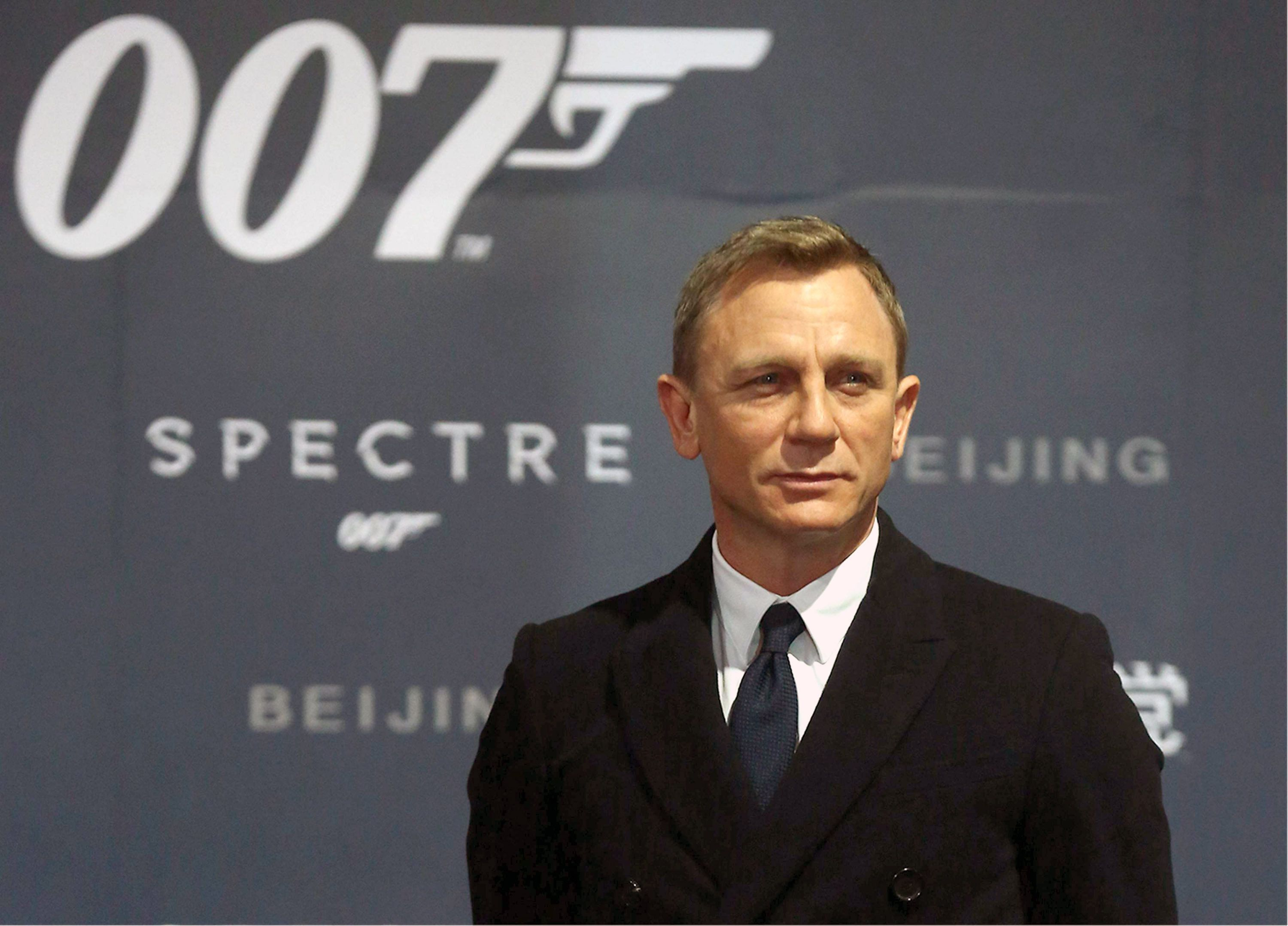 BEIJING, CHINA - NOVEMBER 12:  (CHINA OUT) Actor Daniel Craig attends 'Spectre' premiere at The Place on November 12, 2015 in Beijing, China.  (Photo by ChinaFotoPress/ChinaFotoPress via Getty Images)