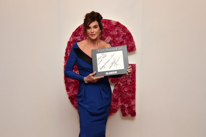 Caitlyn Jenner poses backstage during the 2015 Glamour Women of the Year Awards on Nov. 9 where she was presented witht