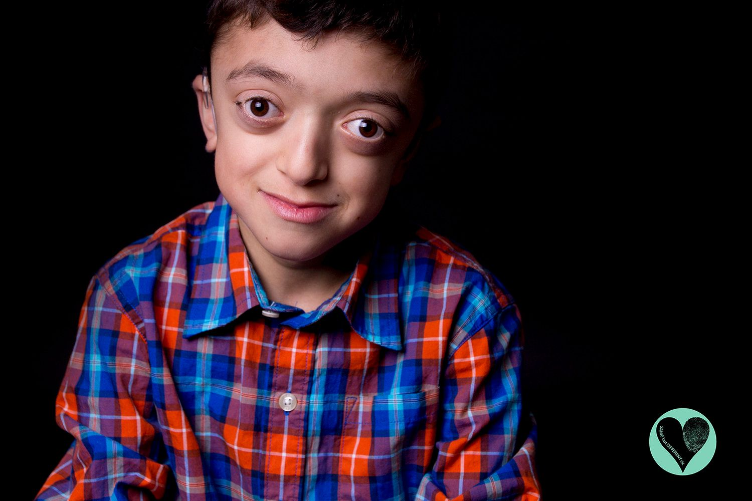 Matthew is a super energetic, positive kid who loves Real Madrid andManchester United. He has Crouzon syndrome and has
