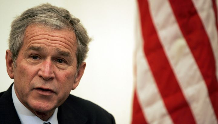 "The Onion warned that the Iraq War, launched by President George W. Bush, would ""fan the flames of hatred even higher."""